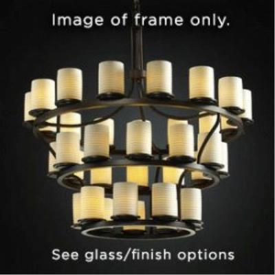 Justice Design FSN-8713 Dakota 36-Light 3-Tier Ring Chandelier (Inverted)