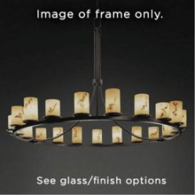 Justice Design FSN-8716 Dakota 21-Light 1-Tier Ring Chandelier