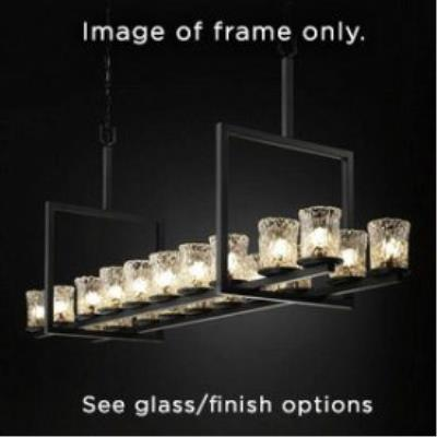 Justice Design FSN-8717 Dakota 20-Light Bridge Chandelier