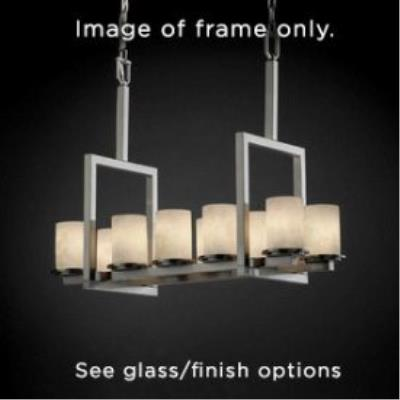 Justice Design FSN-8757 Dakota 10-Light Bridge Chandelier