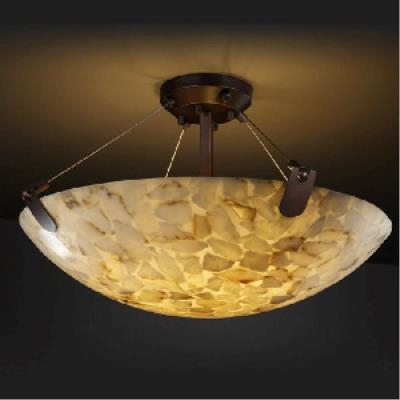 Justice Design PNA-9614 Porcelina - Eight Light Semi-Flush Mount with U-Clip