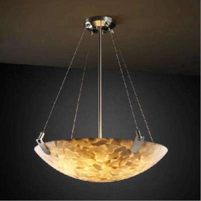 Justice Design PNA-9624 Porcelina - Eight Light Bowl Pendant with U-Clip