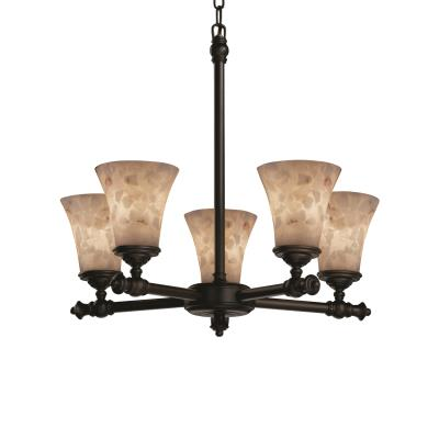 Justice Design ALR-8520 Alabaster Rocks - Five Light Chandelier