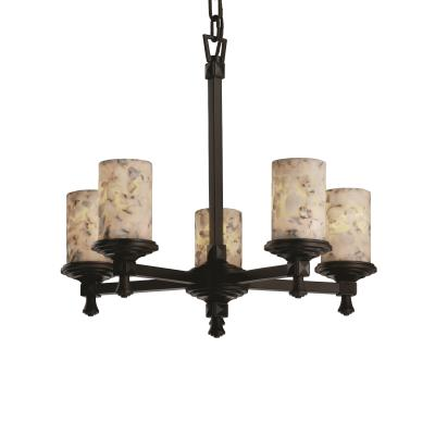 Justice Design ALR-8530 Alabaster Rocks - Five Light Deco Chandelier