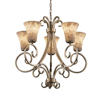 Justice Design ALR-8570 Victoria 5-Uplight Chandelier