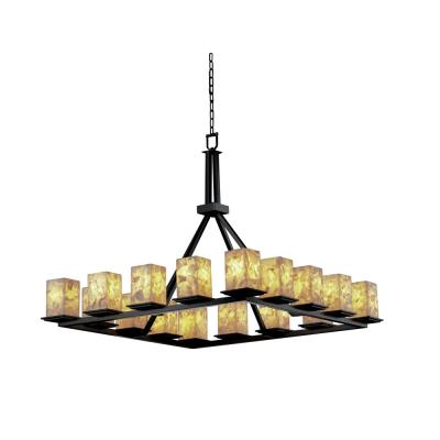 Justice Design ALR-8615 Alabaster Rocks - Sixteen Light Montana Ring Chandelier
