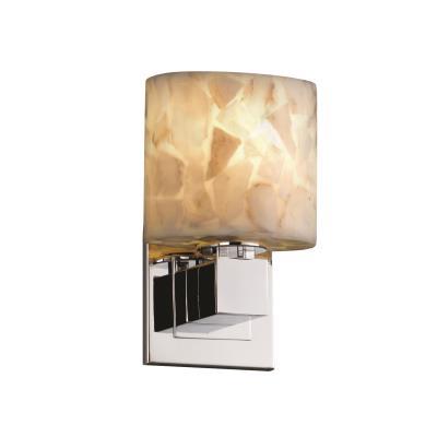 """Justice Design ALR-8707 Alabaster Rocks - 4"""" One Light Wall Sconce"""