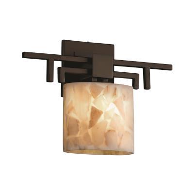 """Justice Design ALR-8711 Alabaster Rocks - 14.25"""" One Light Wall Sconce"""