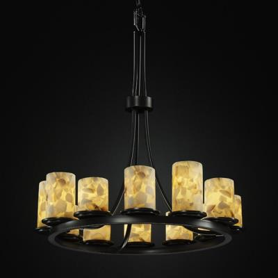 Justice Design ALR-8763 Dakota 12-Light Ring Chandelier (Tall)