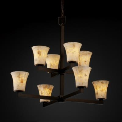 Justice Design ALR-8828 Modular Eight Light 2-Tier Chandelier