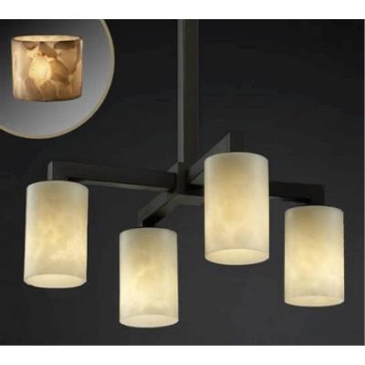 """Justice Design ALR-8920 Alabaster Rocks - 21"""" Four Light Chandelier"""