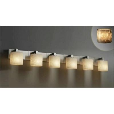 "Justice Design ALR-8926 Alabaster Rocks - 7.25"" Six Light Bath Bar"