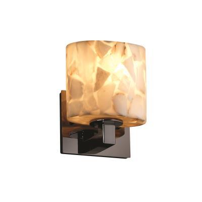 """Justice Design ALR-8931 Alabaster Rocks - 7.25"""" One Light Wall Sconce"""