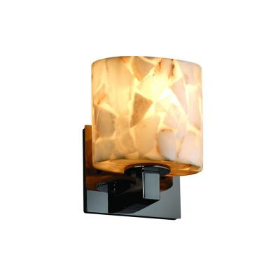 "Justice Design ALR-8931 Alabaster Rocks - 7.25"" One Light Wall Sconce"