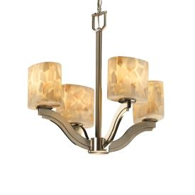 Justice Design ALR-8970 Bend Four Light Chandelier