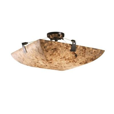 "Justice Design ALR-9634 36"" Semi-Flush Bowl with Tapered Clips"