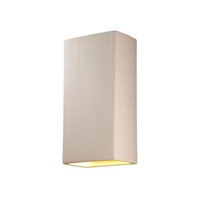 Justice Design CER-1175W Ambiance - Two Light Large Rectangle Wall Sconce with Open Top and Bottom