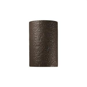 Large Cylinder Closed Top Outdoor Sconce