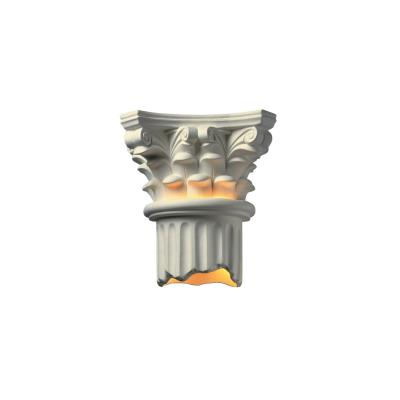 Justice Design 4705 Corinthian Column Open Bottom Sconce