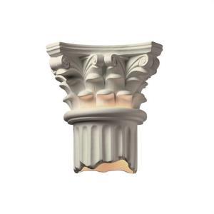 Corinthian Column Open Bottom Outdoor Sconce