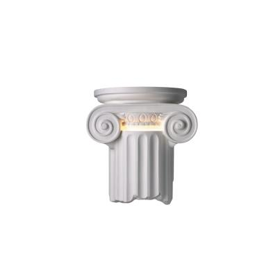 Justice Design 4715W Ionic Column Open Bottom Outdoor Sconce