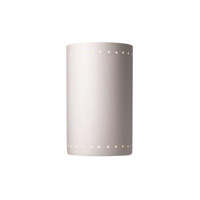 Justice Design 5295 Large Cylinder W/ Perfs Open Top and Bottom ADA Sconce