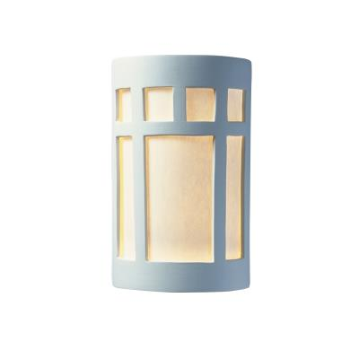 Justice Design 5350W Large Prairie Window Closed Top Outdoor - ADA Sconce