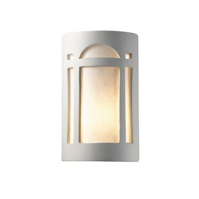 Justice Design 5390W Large Arch Window Closed Top Outdoor - ADA Sconce