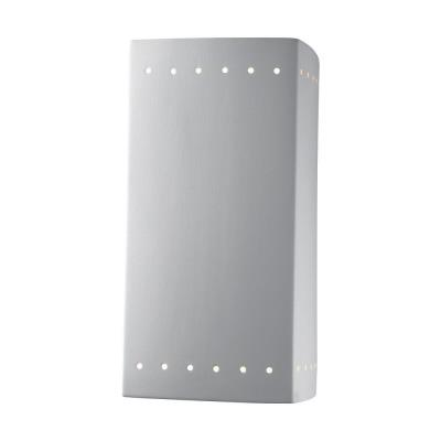 Justice Design CER-5960 Ambiance - One Light Large Rectangle Wall Sconce with Perforated Closed Top