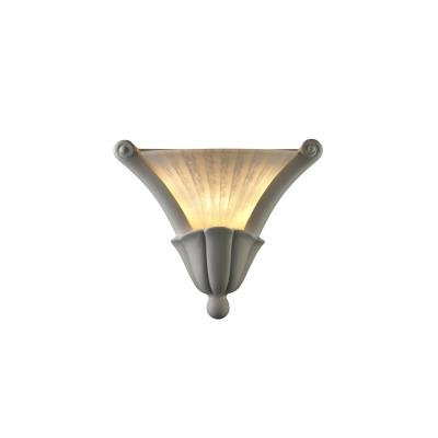 Justice Design CER-7225 Ceramic Collections - One Light Curved Cone Wall Sconce