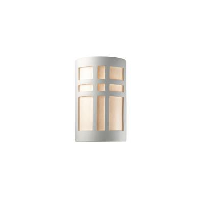 Justice Design 7285W Small Cross Window Open Top and Bottom Outdoor Sconce