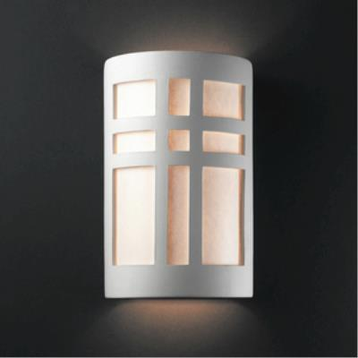 Justice Design 7295W Large Cross Window Open Top and Bottom Outdoor Sconce