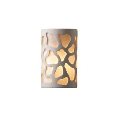 Justice Design 7445W Small Cobblestones Open Top and Bottom Outdoor Sconce