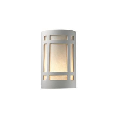 Justice Design 7485W Small Craftsman Window Open Top and Bottom Outdoor Sconce