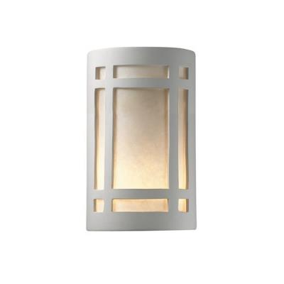 Justice Design 7495W Large Craftsman Window Open Top and Bottom Outdoor Sconce