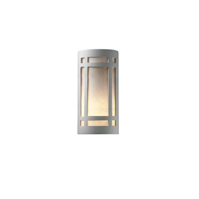 Justice Design 7497 Really Big Craftsman Open Top and Bottom Sconce