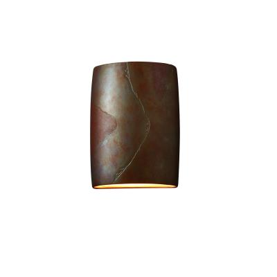 Justice Design 8858 ADA Large Cylinder Wall Sconce Open Top and Bottom