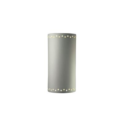 Justice Design 9020W Sun Dagger Extra Large Cylinder Opn Top and Btm Outdoor Sconce