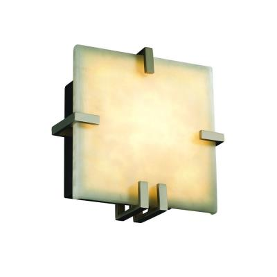 Justice Design CLD-5550 Clips Square Wall Sconce (ADA)