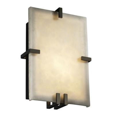Justice Design CLD-5551 Clips Rectangle Wall Sconce (ADA)