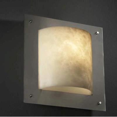 Justice Design CLD-5561 Framed Square 4-Sided Wall Sconce (ADA)
