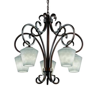"Justice Design CLD-8575 Clouds - 31"" Five Light Chandelier"