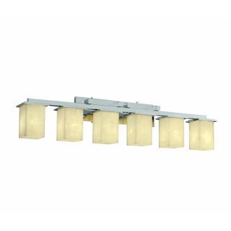 Justice Design CLD-8686 Clouds - Six Light Montana Bath Bar