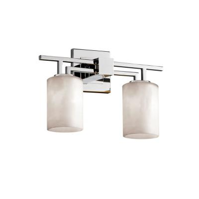 "Justice Design CLD-8702 Clouds - 16"" Two Light Bath Bar"