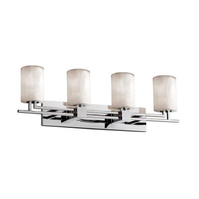 "Justice Design CLD-8704 Clouds - 9.25"" Four Light Bath Bar"
