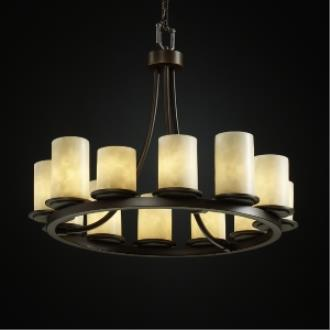 Justice Design CLD-8768 Dakota 12-Light Ring Chandelier (Short)