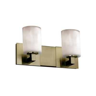 """Justice Design CLD-8922 Clouds - 15"""" Two Light Bath Bar"""