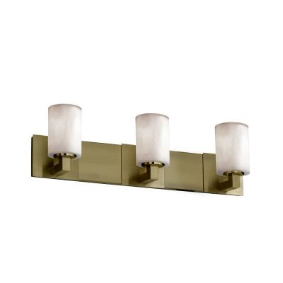 "Justice Design CLD-8923 Clouds - 27"" Three Light Bath Bar"