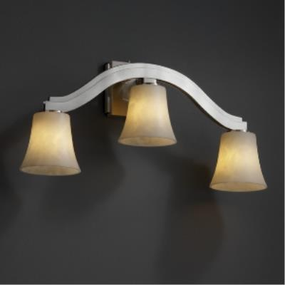 "Justice Design CLD-8976 Clouds - 25.5"" Three Light Wall Sconce"