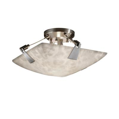 Justice Design CLD-9630 Clouds - Two Light Semi-Flush Mount with Tapered Clip
